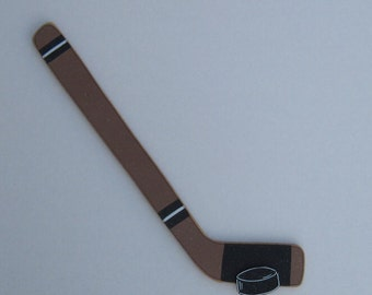 HOCKEY STICK With PUCK for boy, wall, sports theme room, man cave, and bedroom home decor