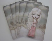 Pack of 5 Postcards-The Distant Castle