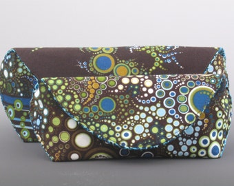 eyeglass case in Amelia Caruso Effervescence- Earth Stripe- Made to order