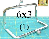 6x3 Nickel-free metal purse frame(TM)