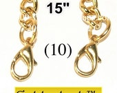 25% OFF (10) 15 inch GoldenLock(TM) purse chain