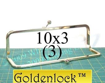 3 Goldenlock(TM) 10x3 purse frame