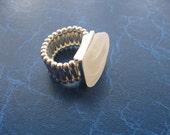White Sea Glass Jewelry, Beach Glass, Sea Glass, Seaglass Ring, Beach Glass Jewelry, Genuine Sea Glass