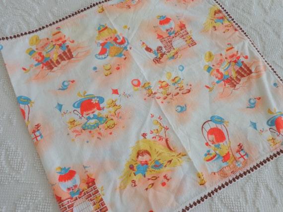 Cute Vintage Childrens Nursery Fabric Runner By