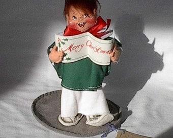 Doll Annalee mobility Impish little boy caroler Merry Christmas