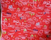 Sailboat Themed Fabric in Red, White and Blue