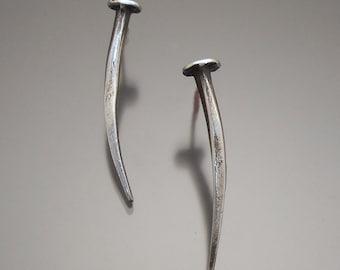 Sterling Nail Earrings
