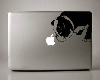 Curtis the English Bulldog Decal Apple Macbook