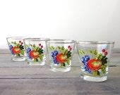 Fruit Glasses Set of Four Barware