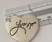 Memorial Jewelry-Large SIze Heart Shaped  Pendant or Key Tag - Interactive Silver by SurfingSilver