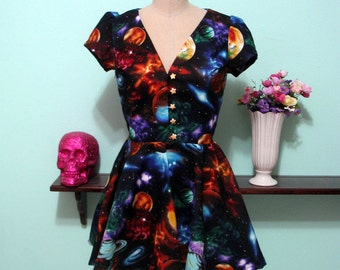 Space Print Locke Dress - Now with Pockets!