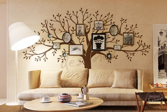 Family tree wall decals photo frame wall decal by - Family room wall decor ideas ...