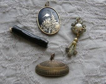 Vintage destash lot of charms or pendant for re-purpose