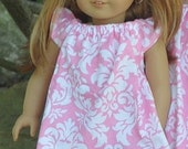 Flutter Sleeve  Dress Doll PDF Sewing Pattern, now includes a video too