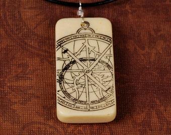 Astrolabe Necklace - Astrolabe Pendant - Domino Necklace - Domino Pendant