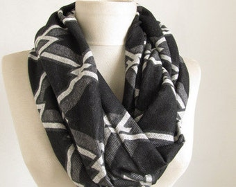 Men scarf //  grey scarf //  BLACK & GREY // scarfs or scarves // Unisex scarf