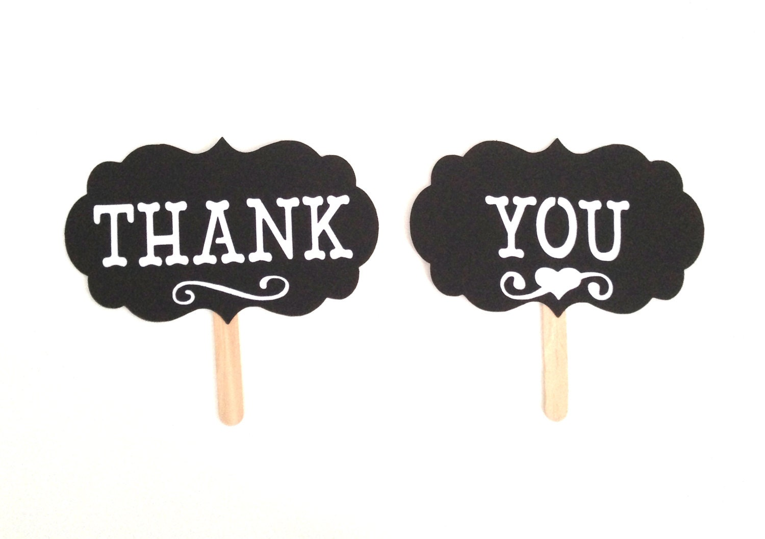 THANK YOU Photo Prop Photo Booth Props Set Of 2 Thank You Sign