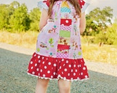 Peasant Dress Kaleidoscope Pattern Sizes 12m -14 PDF INSTANT DOWNLOAD