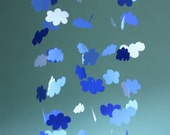 Cloud Mobile - Paper Mobile Inspired by Land of Nod for Nursery, Baby or Kids Decor