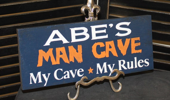 Chicago Man Cave Signs : Items similar to man cave chicago bears colors