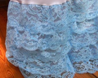 Sample sale !! Pool blue crinoline ruffle slip petticoat