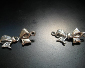 Sterling Silver Bow Clasp Finding Princess Bow Jewelry Findings by WishMeAway on Etsy