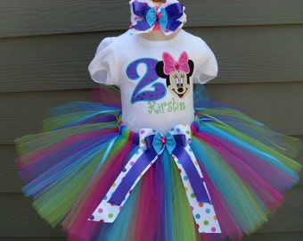 Custom tutus...MOUSE COLOR BURST, tutu set, disney vacation,size 3,6,9,12,18,24 months and 2T,3T,4T,5T,6T years,costume, birthday
