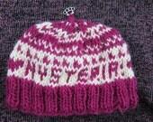 hysteria purple & white hat