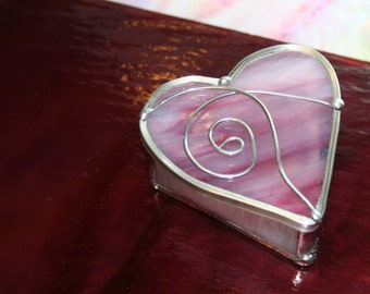 Stained Glass Ring or Small Trinket Gift Box Valentine Gift