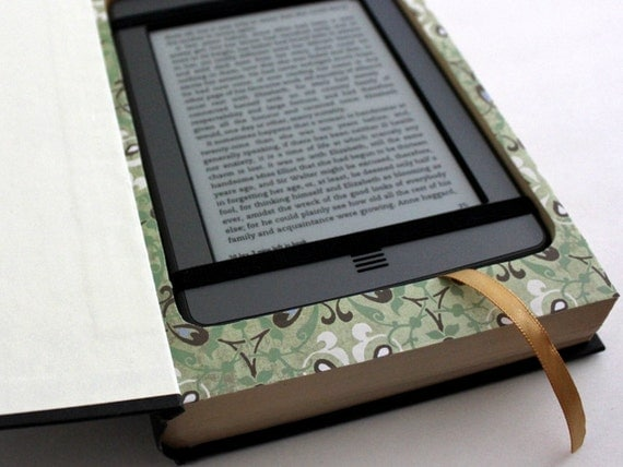 Kindle Case for Kindle, Kindle Touch, Kindle Paperwhite. Real Book Kindle Case. Timeline