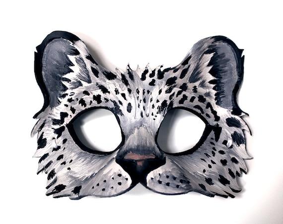 Snowleopard - Handmade Leather Mask