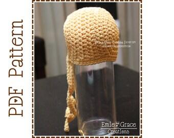 Bonnet Hat Crochet Pattern, BASIC BONNET - pdf 309