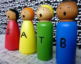 SATB Peg People - Music Toys