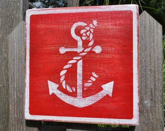 Red Anchor Sign