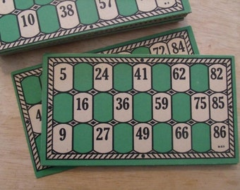 10 Vintage Lotto Cards 1930 Bingo Cards