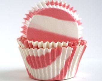 Pink Zebra Baking Cups (60)