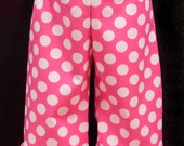 Ruffled Hem Pants in Polka Dots and chevron to Match your Shirt