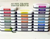 Large MEMENTO  raised dye ink pad OLIVE GROVE