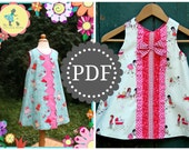 Girls A-Line Dress PDF PATTERN: Janey Jumper - Size 6 Month through 10 Years