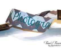 Chevron Camera Strap Embroidered DSLR Canon, Sony, Nikon Custom Accessories Personalized Photography Gift