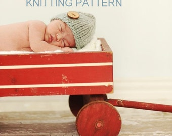 KNITTING PATTERN Newborn Hat, Chunky Beanie - DIY, newborn, baby, printable, instant download