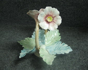 Handmade Flower & Leaf Dish from Italy