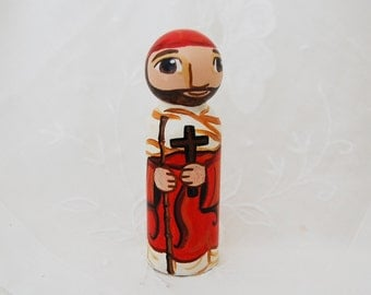 St John de Britto Catholic Saint Doll - Wooden Toy - Made to Order