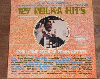 Vintage 127 Polka Hits-Larry Chesky Presents-Rex Records Anniversary Polka Package-4 Record Set