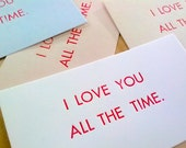 Sneaky Love Cards (set of 5)