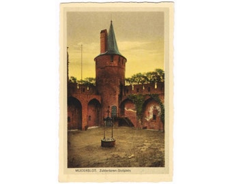 6 Vintage European Castle Postcards