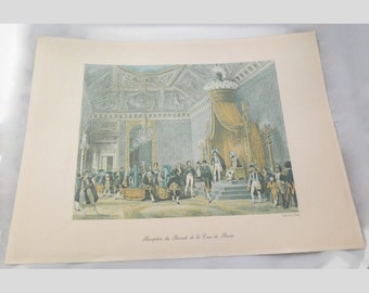 Vintage French Art Print - France - Europe - Napoleon