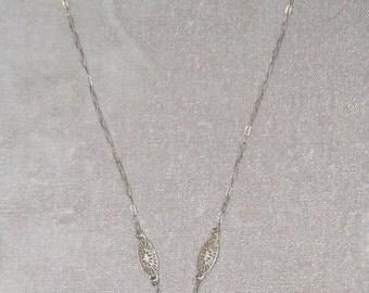 Dainty Deco Crystal Camphor Necklace