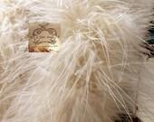 Bone Ivory Peach Beige Marabou Boa Feathers