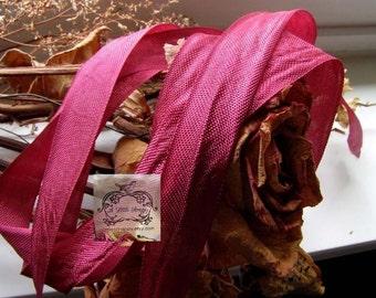 Rayon Seam Binding Ribbon Rubytone